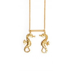 Seahorse necklace lovers