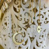 ✨Wild and the moon ✨ Week-end Colliers Diamants 🌙✨ • • • #wild #moon #diamond #handmadejewelry #jewelry #creation #stylistefrance #madeinfrance #paris #charmstory #star #stone #preciousstones #parisianstyle #bijoux #love #schadejewellery