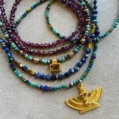 ✨ISIS ✨Colliers de Pierres Précieuses & Pierres fines 💫🌙✨ #isis #handmadejewelry #egypt #stone #preciousstones #jewelry #saphir #grenat #turquoise #montmartre #schadejewellery